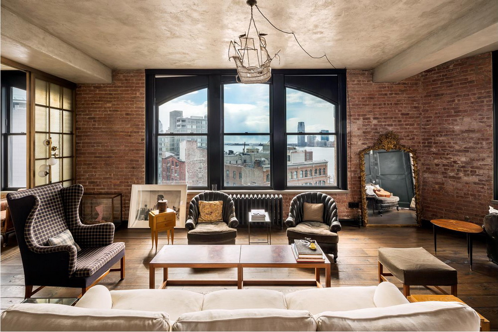 kirsten dunst soho new york city apartment for sale living room 3